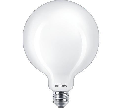 Bec LED 7W(60W) E27 G125 lumina alba calda,Philips - glob