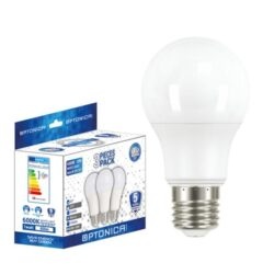 Set 3 becuri LED 9W E27 lumina alba calda, Optonica - standard