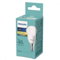 BEC LED PHILIPS E14, 6W(48), sferic, 2700K, lumina calda, A+