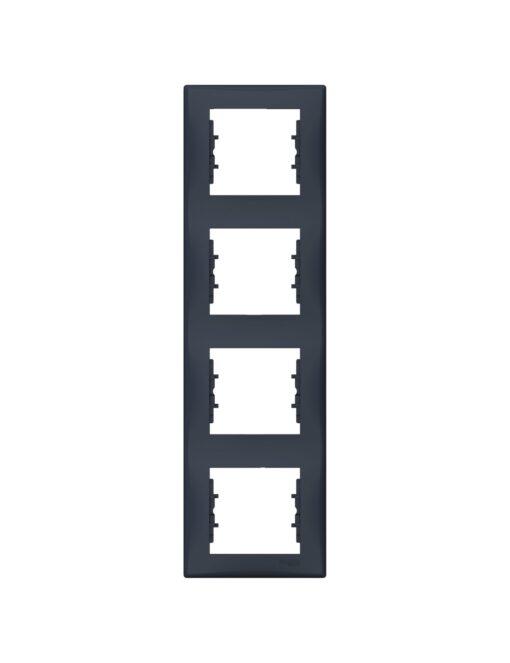 Rama 4 module Grafit, Schneider Sedna - verticala