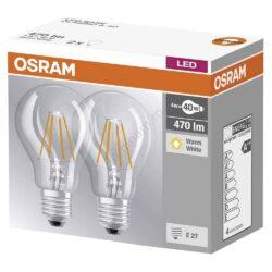 Set 2 becuri LED Vintage 4W, lumina calda, Osram -