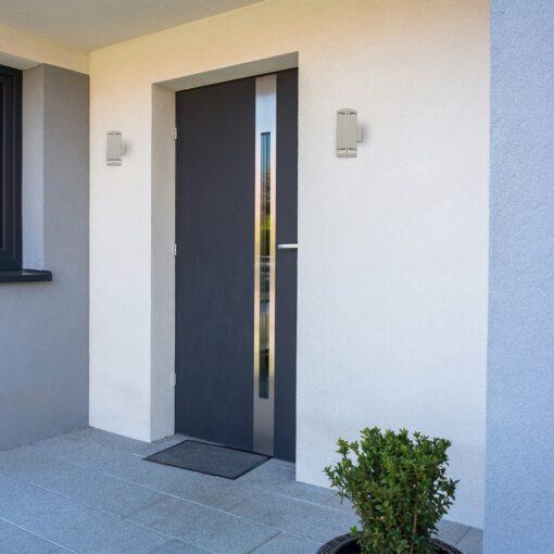 Aplica perete exterior 2xGU10, max 25W, Rabalux - gri